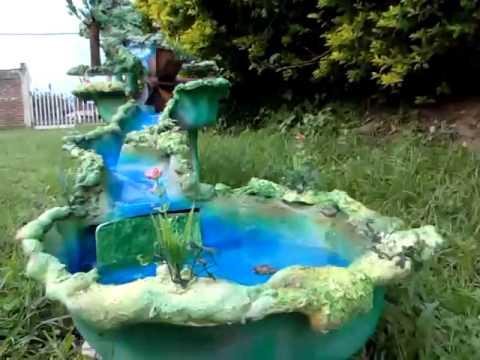 Cascadas y rios para pesebres youtube for Cascadas de agua artificiales para jardin