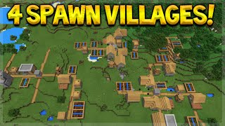 4 VILLAGES AT SPAWN! Minecraft Pocket Edition 0.16.0 Epic Seed With Blacksmiths (Pocket Edition)