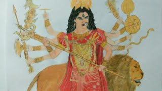 Drawing Maa DURGA -pooja Sharma as Maa Durga - Mahakali