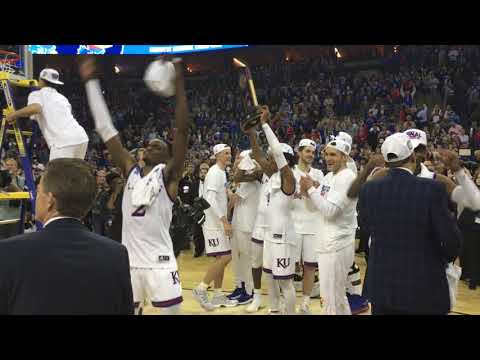 Highlights from KU's postgame celebration after advancing to the Final Four