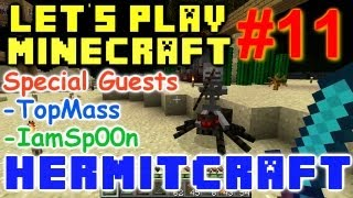 HermitCraft Minecraft LP Ep. 11 - Iron farms wither boss beacon special guests topmass & IamSp00n