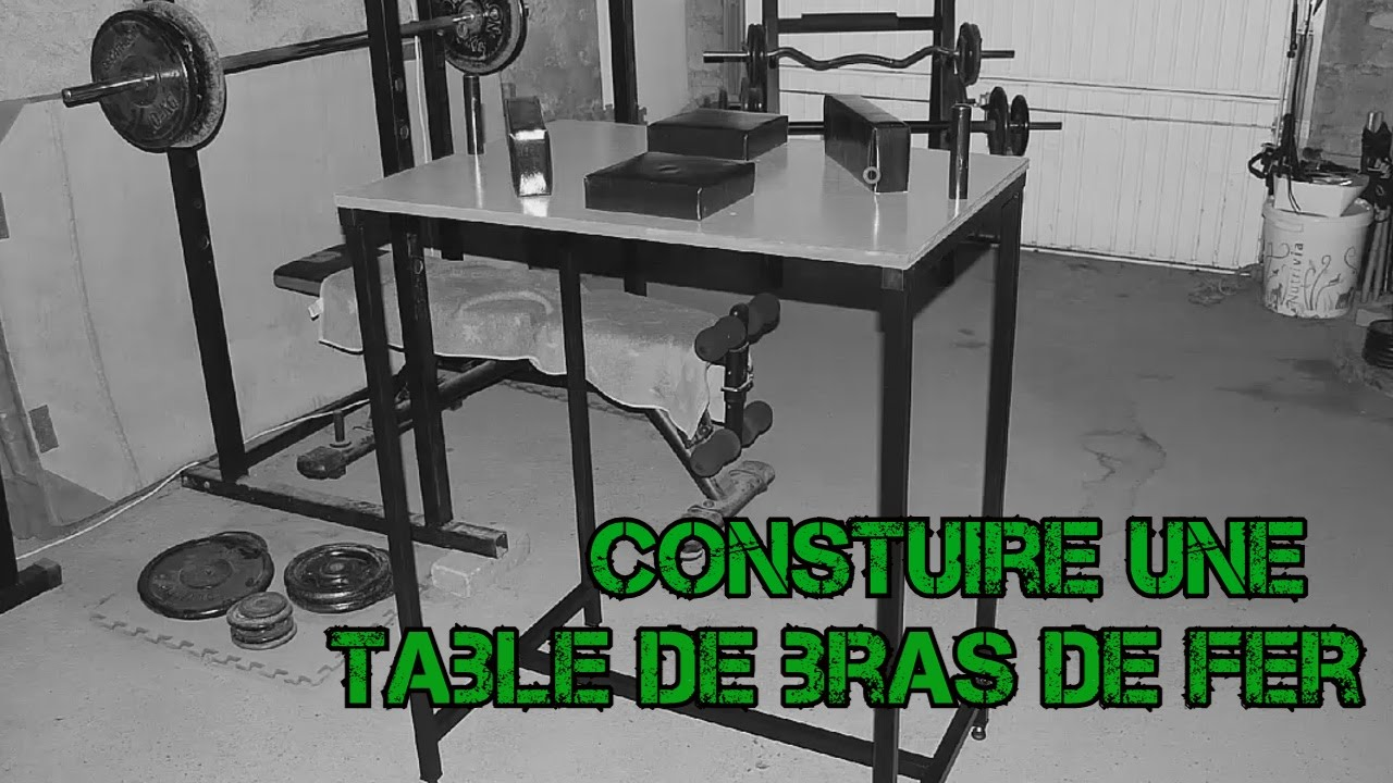 Comment Crafter Une Table De Bras De Fer Officielle Youtube