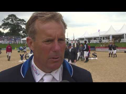 Showjumping -William Funnell on his horse Billy Onslow