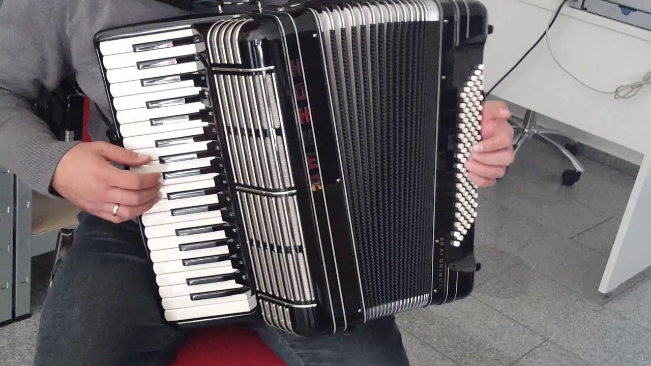 Hohner Morino M4: Klangprobe Akkordeon Hohner Morino IV 96