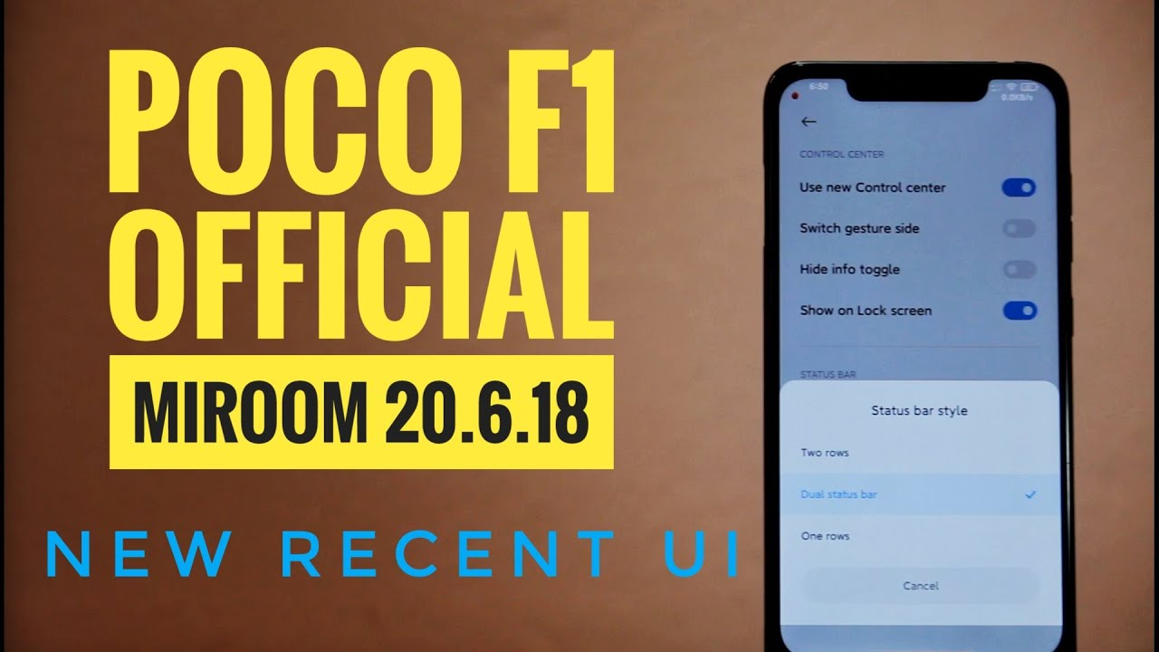 Poco F1 | MIROOM 20.6.18 Official | Install & Review | Cool Recent UI & Some New Features