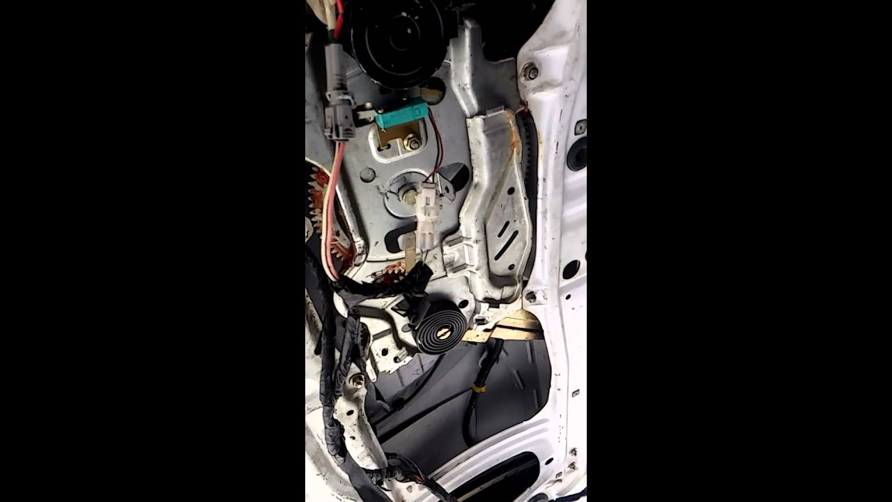 2002 toyota sequoia rear hatch window motor repair youtube