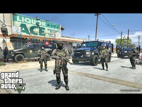 GTA 5 MODS LSPDFR 819 - SWAT PATROL!!! (GTA 5 REAL LIFE PC MOD)