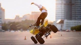 Stuntriding on Sport Motard ATV - Стантрайдинг на Чем Угодно(Григорий Талдыкин катает на дорожнике BMW F800, супермото KTM 525 SMR и квадроцикле KTM. Григорий универсальный райде..., 2012-09-25T19:04:27.000Z)