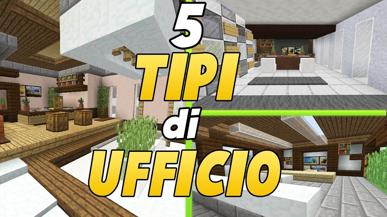 COME ARREDARE UNA CASA IN MINECRAFT ➜ L UFFICIO - YouTube