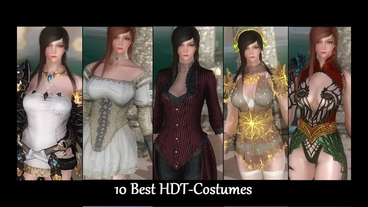 skyrim mods: 10 hdt-costumes p2 (female) - youtube