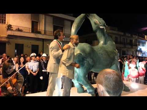 Inaugurazione cavallo ipparino Arturo Di Modica