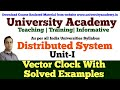 L2: Distributed System | Vector Clock | Vector Clock Solved Example in Hindi by Prince Sir