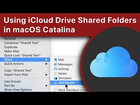 Using iCloud Drive Shared Folders in macOS Catalina - YouTube