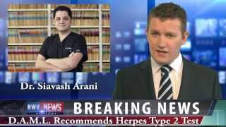 Herpes False Positive Test Result by lab, No Symptom , Arani, M.D. United States