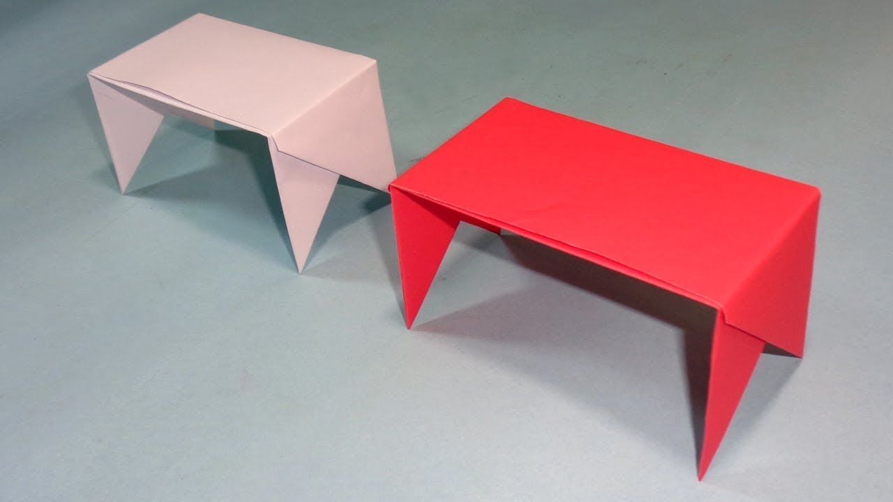 How To Make A Paper Table | Easy Origami Table Tutorial For Kids