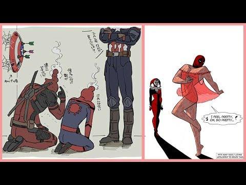 Funny DeadPool Comics | Funny DeadPool & SpiderMan