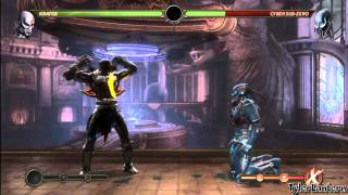 MK9 - Kratos 77% And 71% Midscreen Combos (Without X-RAY) - Mortal Kombat 9 (2011)