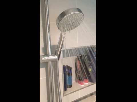 hansgrohe raindance s 120 air 3 jet hand shower 1 year after install youtube. Black Bedroom Furniture Sets. Home Design Ideas