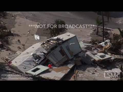 9-12-2017 Summerland Key to Big PIne Key, FL - Helicopter Footage Hurricane Irma Aftermath
