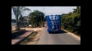 Bus Pariwisata Senja Furnindo - road to Garuda Wisnu Kencana, Bali