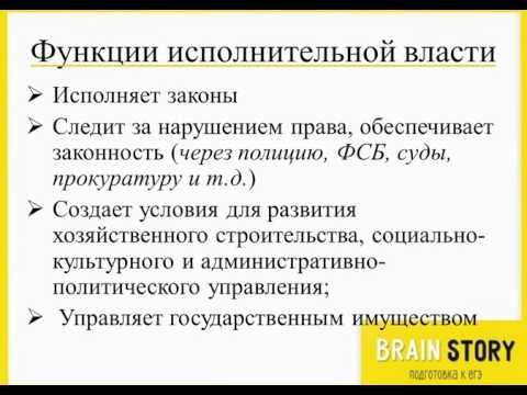 6.6.4  Органы власти в РФ  Исполнительная власть и её функции
