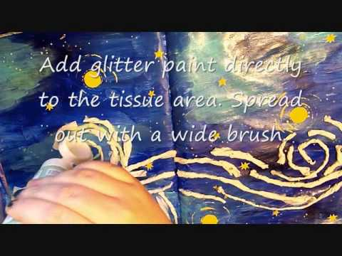 One Starry Night Inspired Art Journal Page Tutorial