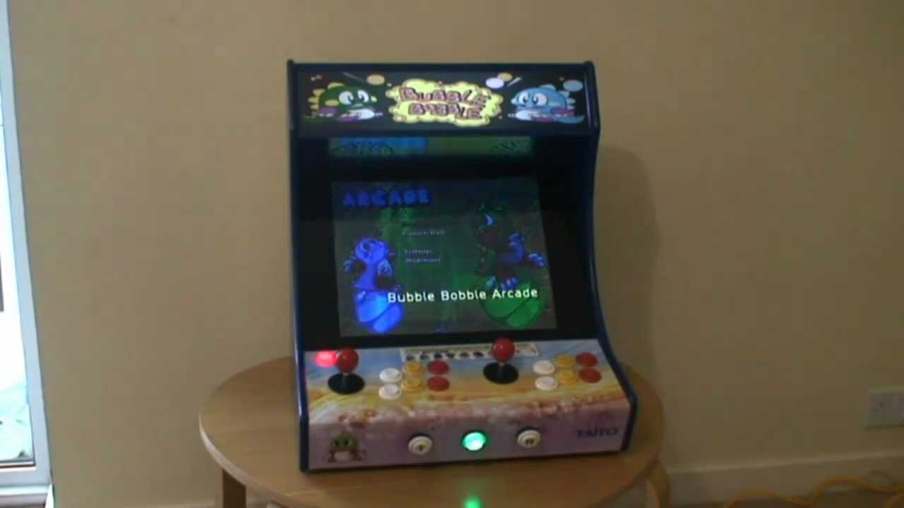 Custom Built Bartop Arcade Machine With Bubble Bobble