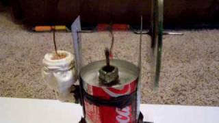 Pop can Stirling engine motor homemade diy LTD