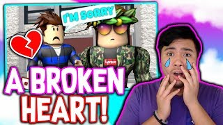 A BROKEN HEART!!! *REACTING TO THE SADDEST STORY IN ROBLOX*