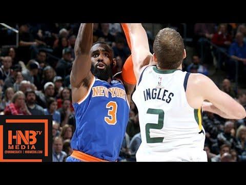 New York Knicks vs Utah Jazz Full Game Highlights / Jan 19 / 2017-18 NBA Season
