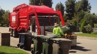 haul away rubbish autocar acx amrep hx 450 semi auto residential fl
