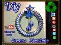 Diy.Corona Navideña  Reciclando Mirna y sus manus Diy. How to make a Christmas wreath Recycling