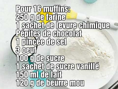 #muffins-#recette-#recettefacile-#chocolat-muffins-aux-pépites-de-chocolat