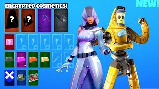 *NEW* Encrypted Emote & Skins..! (P-1000 MECHA Peely, Davinci) Fortnite Battle Royale