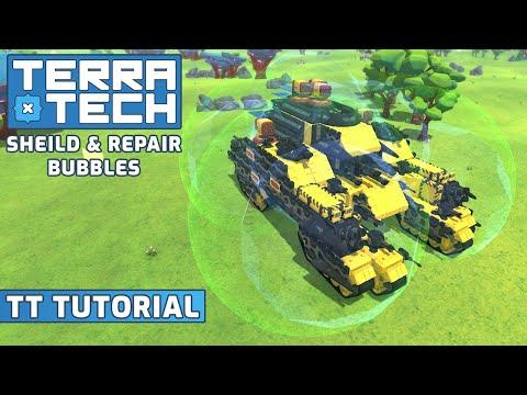 Repair And Shield Bubbles || TerraTech Tutorials