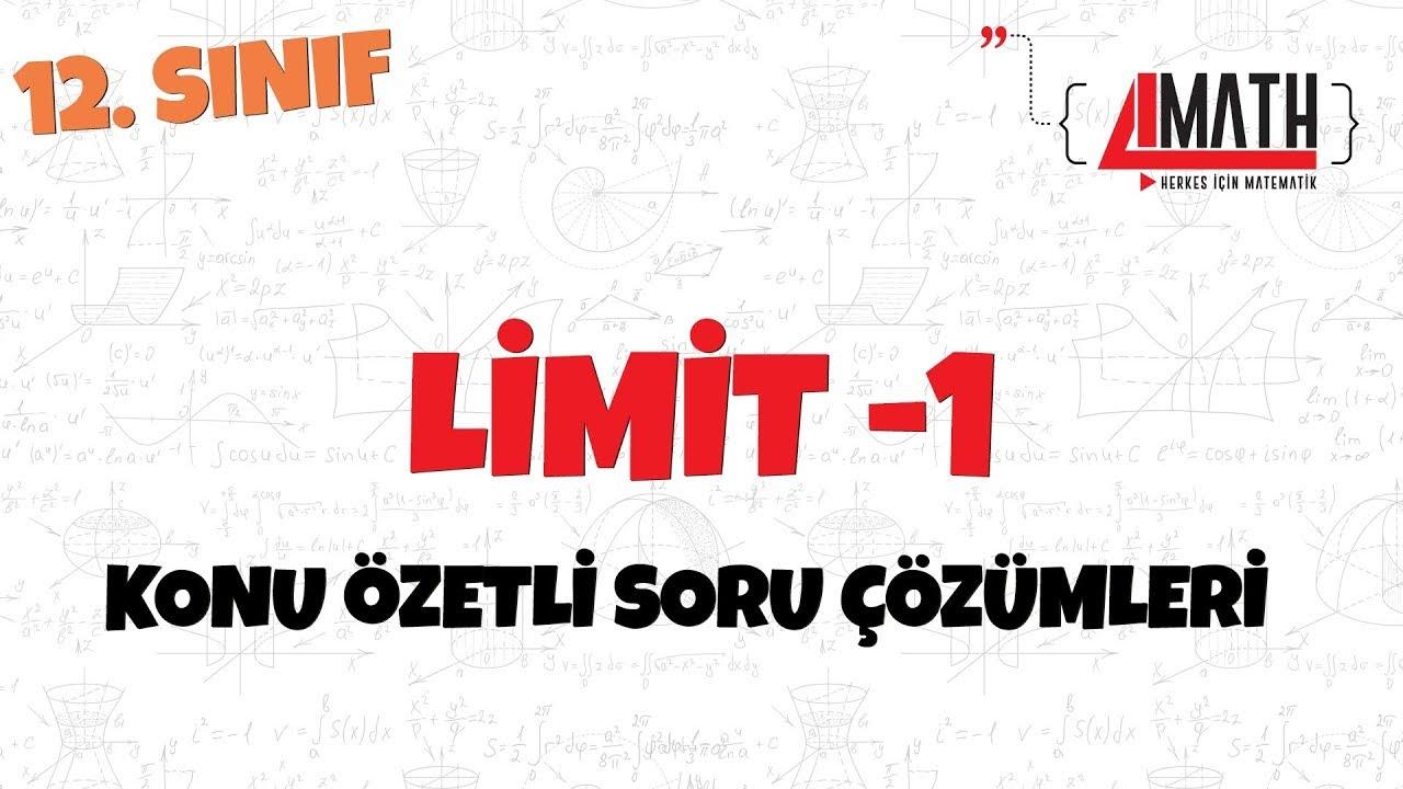 Limit -1 - Konu Özetli Soru Çözümleri