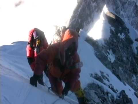 Climbing Hillary Step on Everest