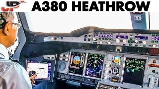Piloting AIRBUS A380 into London Heathrow