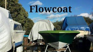 Applying Topcoat/Flowcoat To GRP Broom Speedboat  Ep 130