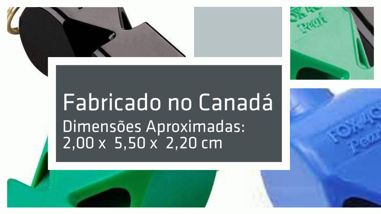 Apito Fox 40 Pearl Profissional 90 Decibéis - YouTube a23748839986d