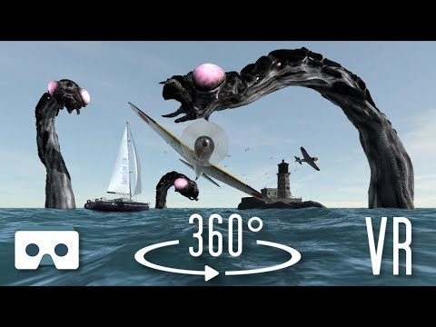 a0c57d8c8b0 VR 360 3D video  Sea Monsters. Virtual Reality Scary Videos for Oculus Go