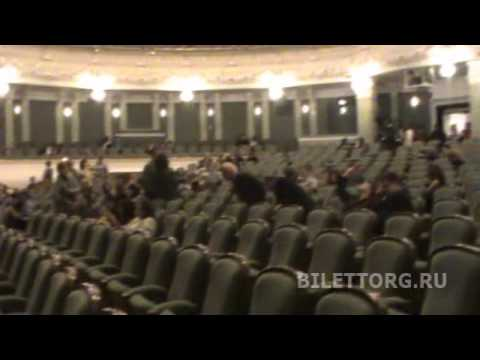 Схема зала Большого театра, амфитеатр, партер, бенуар