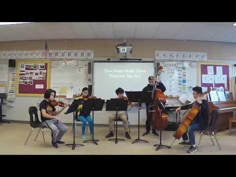 """Seven Bridges Middle School String Quintet """"Eine Kleine Nachtmusik"""", W.A. Mozart, arr. by Isaac"""