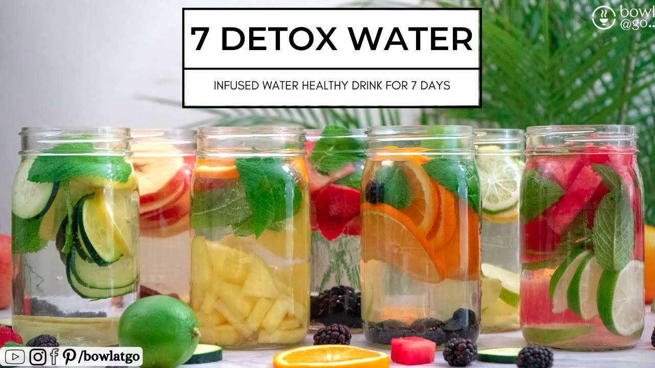 7 Days 7 Detox Water For Weight Loss | Infused Water For Weight Loss | Summer Detox Water | bowlatgo
