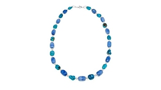 Colleen Lopez Turquoise, Opal   Cultured Pearl Necklace thumbnail