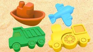 Мультики для самых маленьких: #Игры в песочнице! Учим цвета и Лепим куличики из песка