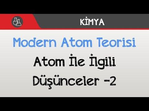 Modern Atom Teorisi - Atom İle İlgili Düşünceler -2