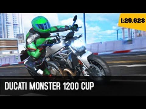 Asphalt 8 - DUCATI MONSTER 1200 (Cloud Nine) 1:29.628