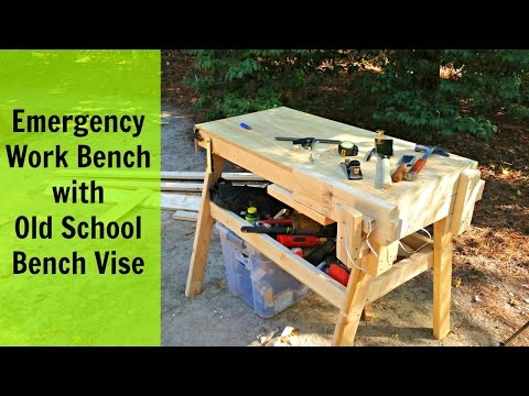 Emergency Work Bench with Old School Bench Vise