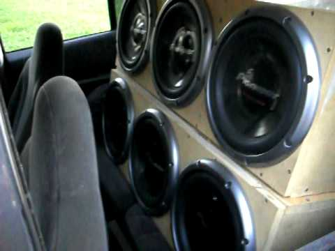 6 Pioneer Champion Series 12 Inch Subs